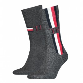 2-Pack Stripe Ankle Length Socks - TOMMY HILFIGER 100001492-003