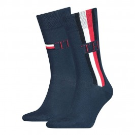 2-Pack Stripe Ankle Length Socks - TOMMY HILFIGER 100001492-002