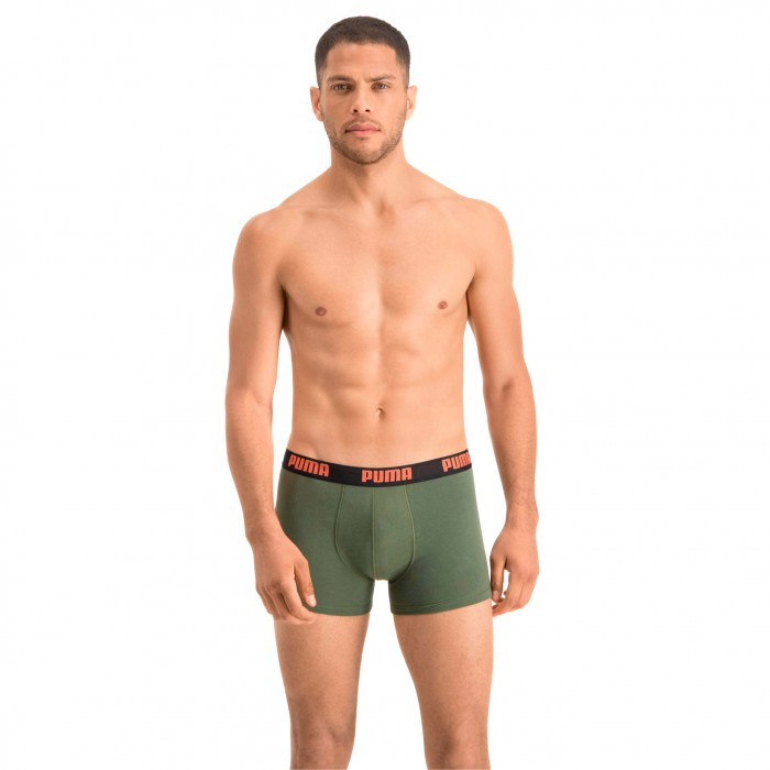 Basic Boxer Shorts 2 Pack - army green - PUMA 521015001-008