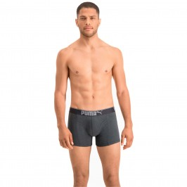 Lifestyle Sueded Cotton Boxer Shorts 3 Pack - white grey and black - PUMA 681030001-325
