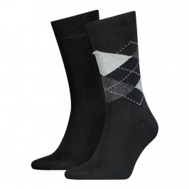 2-Pack Check Socks - TOMMY HILFIGER 100001495-200