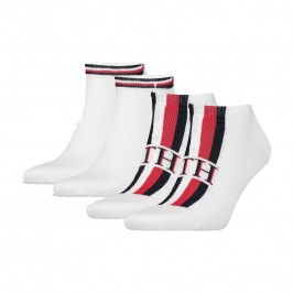 Lot de 2 paires de chaussettes - blanc imprimé TH - TOMMY HILFIGER 320204001-300