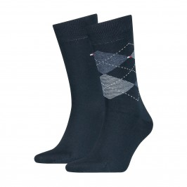 2-Pack Check Socks - TOMMY HILFIGER 100001495-356
