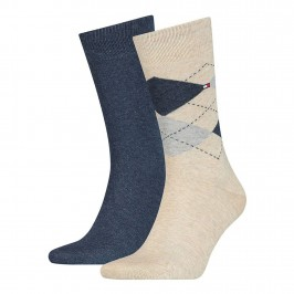2-Pack Check Socks - TOMMY HILFIGER 100001495-050