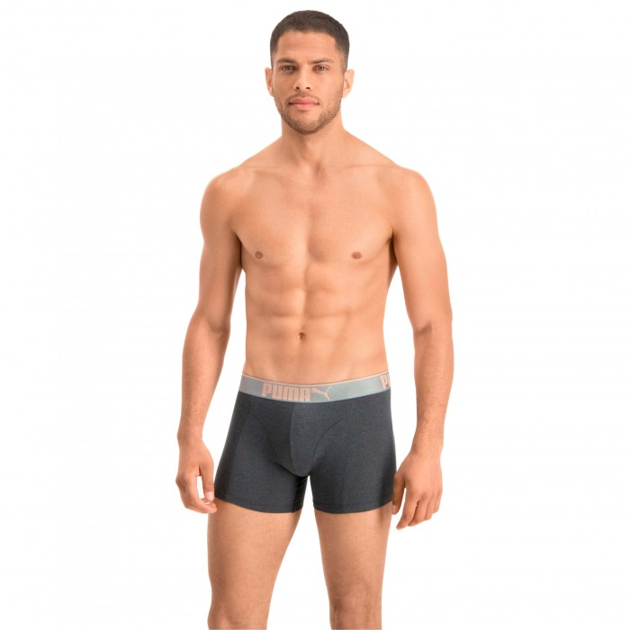 Lifestyle Sueded Cotton Boxer Shorts 3 Pack - rose water - PUMA 681030001-001