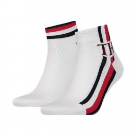2-Pack Stripe Ankle Length Socks - TOMMY HILFIGER S320203001-300