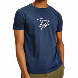 Tommy T-Shirt with signature - navy - TOMMY HILFIGER UM0UM02245-CHS
