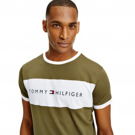 Flag Logo Crew Neck T-Shirt - army green - TOMMY HILFIGER UM0UM01170-RBN