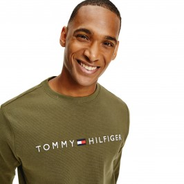 Logo Embroidery Organic Cotton Sweatshirt - army green - TOMMY HILFIGER UM0UM01926-RBN