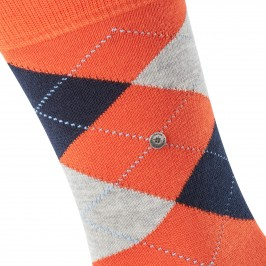 EDINBURGH socks - orange/navy/grey - BURLINGTON 21182-8910