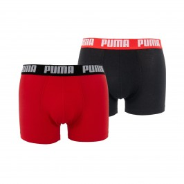 Basic Boxer Shorts 2 Pack - red and black - PUMA 521015001-786