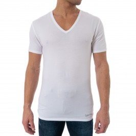 3 Pack V Neck T-shirts Cotton Classics - white - CALVIN KLEIN NB4012E-100