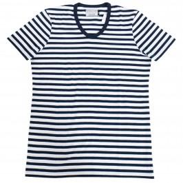 Le T-shirt V Marin - GARÇON FRANÇAIS T-SHIRT17 BLEU/MARINE