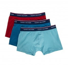 3-Pack Stretch Cotton Trunks - red turquoise and blue - TOMMY HILFIGER 1U87903842-044