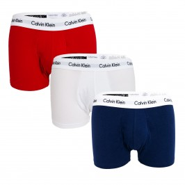 3 Pack Low Rise Trunks - Cotton Stretch - CALVIN KLEIN 0U2664G-103