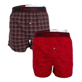 2 Pack Slim Fit Boxers - CALVIN KLEIN NB1691A-9KU