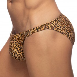 Slip de bain Léopard Stripe - marron - ADDICTED ADS270-C13