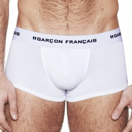 Le Boxer blanc Indispensable - GARÇON FRANÇAIS SHORTY12 BLANC PACK