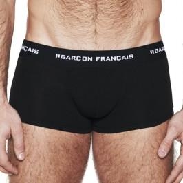 Le Boxer noir Indispensable - GARÇON FRANÇAIS SHORTY12 NOIR PACK
