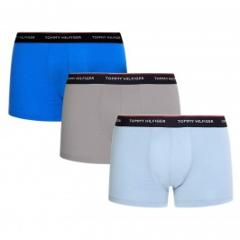 3-Pack Stretch Cotton Trunks - blue and grey - TOMMY HILFIGER 1U87903842-0T1