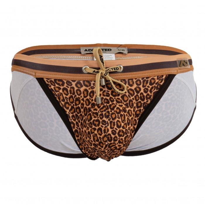 Leopard Stripe - brown swimsuit bikini - ADDICTED ADS268-C13