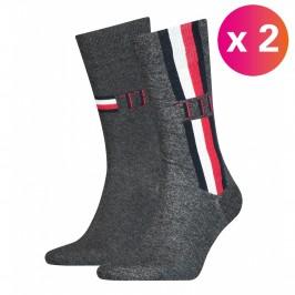 2-Pack Stripe Ankle Length Socks - TOMMY HILFIGER 100001492-003