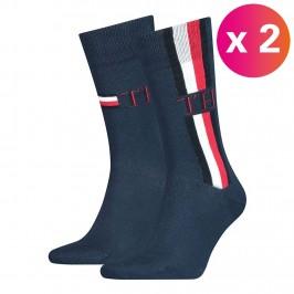 2-Pack Stripe Ankle Length Socks - TOMMY HILFIGER 100001492-002