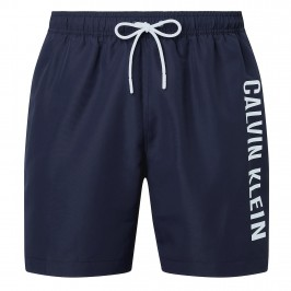 Medium Drawstring - bobby blue swim shorts black iris - CALVIN KLEIN KM0KM00570-CBK