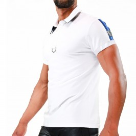 Polo Smart Blanc/Bleu - TOF PARIS TS0031BBU