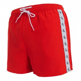 Short de bain Drawstring - rouge - CALVIN KLEIN KM0KM00556-XND