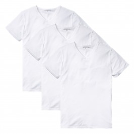 Lot de 3 t-shirts à col en V Premium essentials - blanc - TOMMY HILFIGER 2S87903767-100