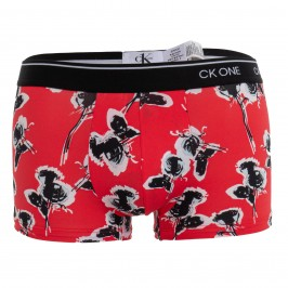 Boxer low size - CK ONE print rose red - CALVIN KLEIN NB2225A-XL1