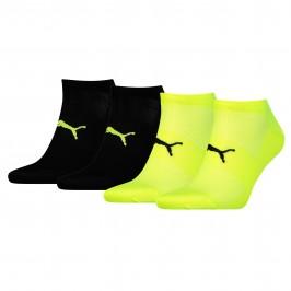 Pack de 2 pares de calcetines tobilleros livianos unisex Performance Train - amarillo y negro - PUMA 271003001-385