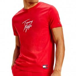 T-shirt en coton bio à logo - rouge - TOMMY HILFIGER UM0UM01787-XLG