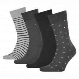 4-Pack Stretch Cotton Socks - black - TOMMY HILFIGER 100002214-002