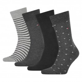 4er-Pack Socken aus Stretch-Baumwolle - schwarz - TOMMY HILFIGER 100002214-002