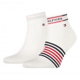 2-Pack Breton Stripe Quarter Socks - white - TOMMY HILFIGER 100002212-001