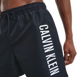 Medium Drawstring - bobby blue swim shorts black - CALVIN KLEIN KM0KM00570-BEH