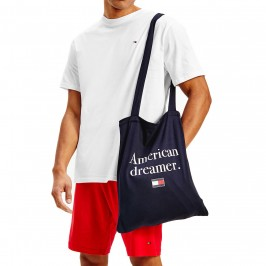 Ensemble pyjacourt à manches courtes avec sac - blanc - TOMMY HILFIGER UM0UM02170-0RW