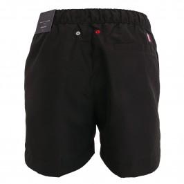 Short de bain mi-long à logo signature - noir - TOMMY HILFIGER UM0UM02060-BDS