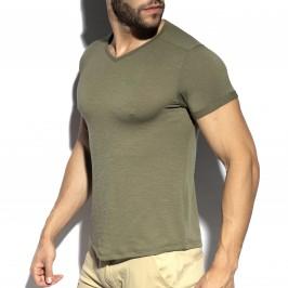 T-shirt col V FLAME - blanc - ES COLLECTION TS283-C12