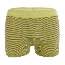 3 Pack Low Rise Trunks  Cotton Stretch - Blue, Green and Grey - CALVIN KLEIN U2664G-KKW