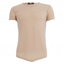T-shirt col V FLAME - blanc - ES COLLECTION TS283-C28