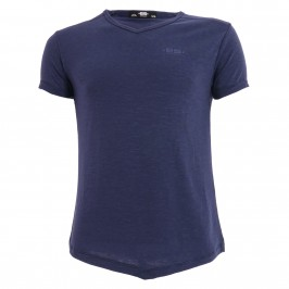 T-shirt col V FLAME - marine - ES COLLECTION TS283-C09