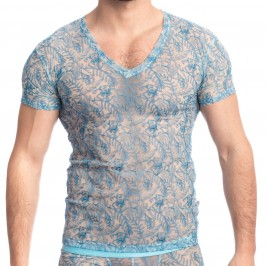 Icy Tropics - V Neck T Shirt - L'HOMME INVISIBLE MY73-ICY-021