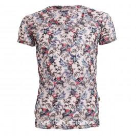 Fleurs de Peau - T-Shirt Col V - L'HOMME INVISIBLE MY73-FDP-000