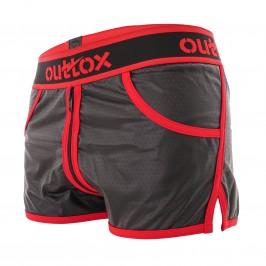 Short Jogging Full Zipper Red - OUTTOX SH140-10