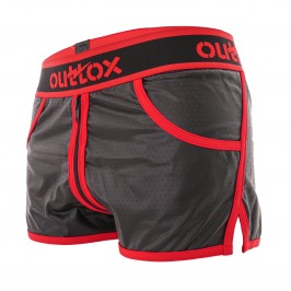 Short Jogging Full Zipper Rouge - OUTTOX SH140-10