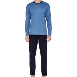 Pyjama Eden Park coton bio - bleu - EDEN PARK E501G59-K78