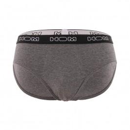Lot de 3 Mini Slip Boxerlines - gris, kaky et bordeaux - HOM 400575-T014